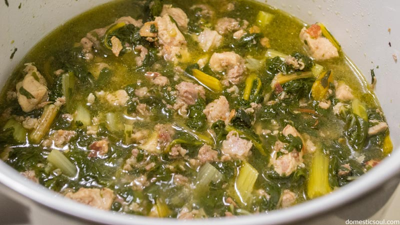 Pork and Greens Stew from domesticsoul.com