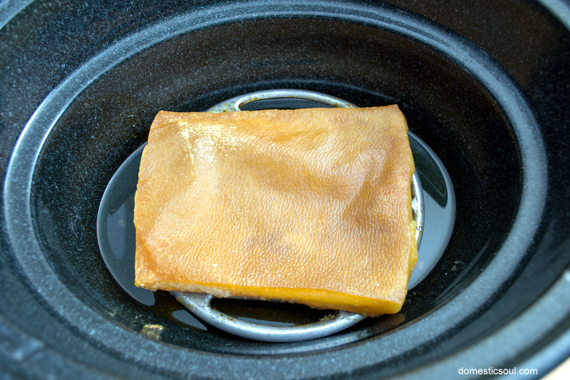 How to render lard in a crockpot from domesticsoul.com