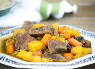 Beef, Bacon, and Rum Stew Recipe from domesticsoul.com