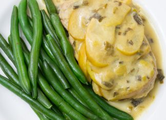 Pork with Apple Mustard Sauce Recipe from domesticsoul.com