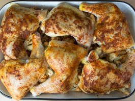 Rosemary Roasted Chicken & Cauliflower Recipe from domesticsoul.com