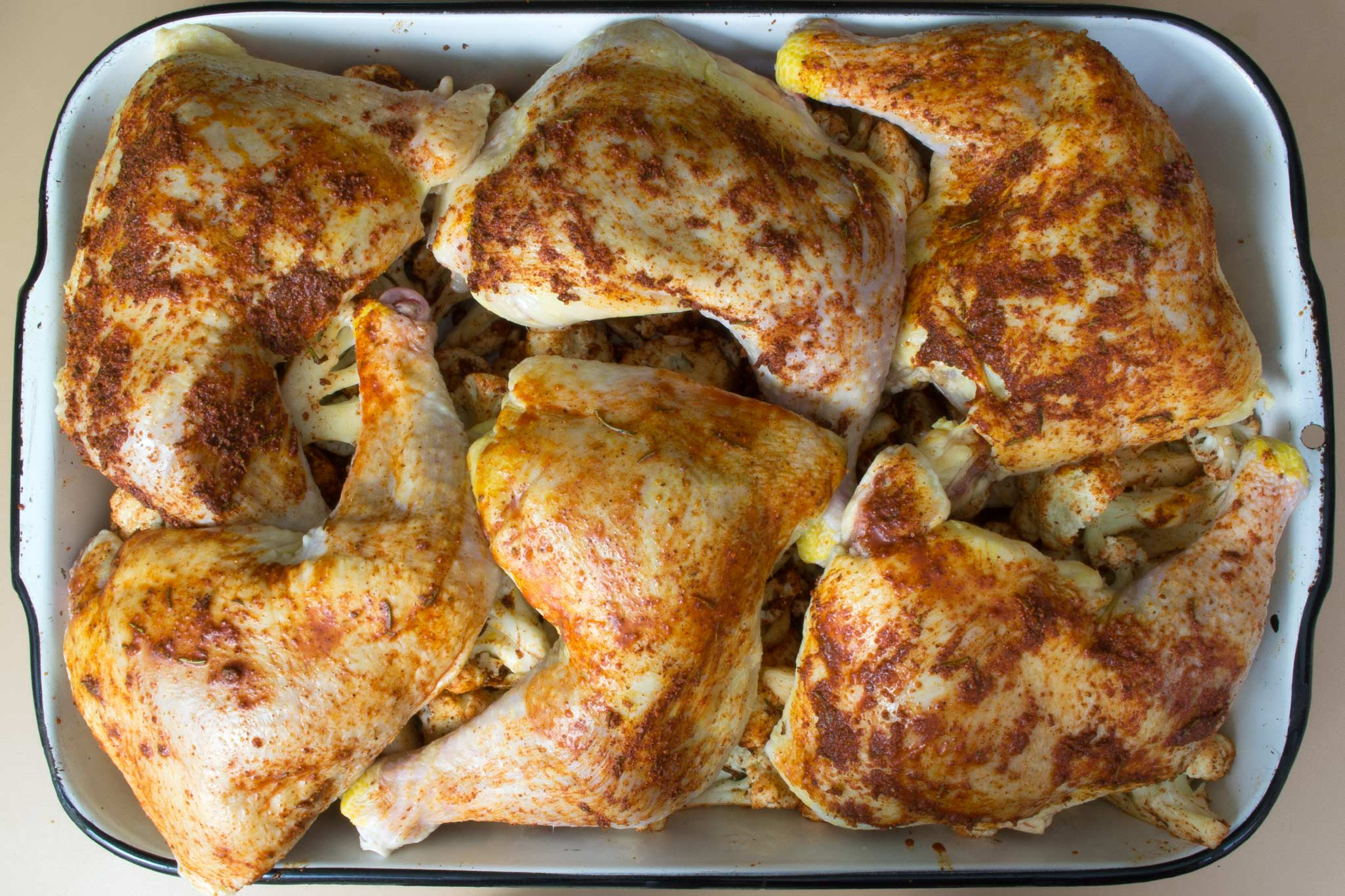 Rosemary roasted chicken and cauliflower recipe ccuart Image collections