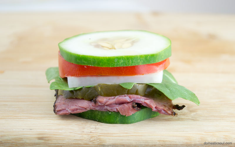 Pastrami and Cucumber Sandwich Recipe from domesticsoul.com