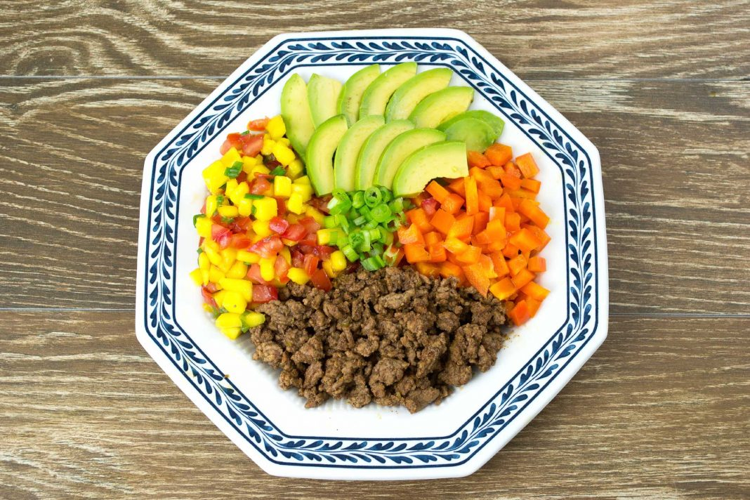 Mango Salsa Taco Bowl Recipe from domesticsoul.com