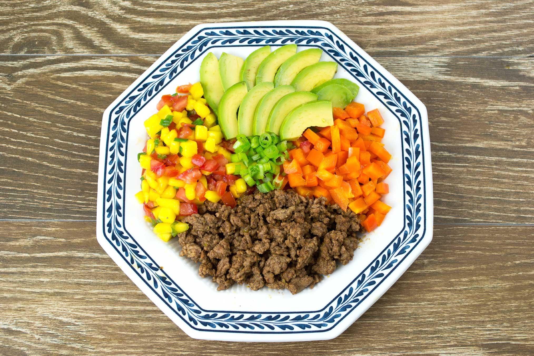 Mango Salsa Taco Bowl Recipe from domesticsoul.com