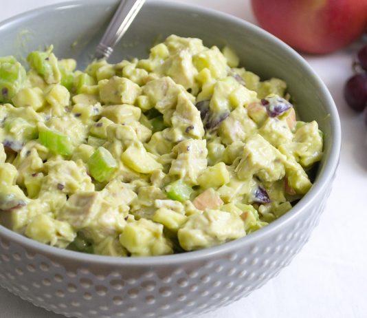 Waldorf-Inspired Avocado Chicken Salad Recipe from domesticsoul.com