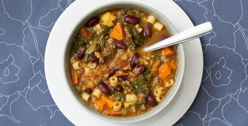 Gluten Free Minestrone Soup Recipe from domesticsoul.com
