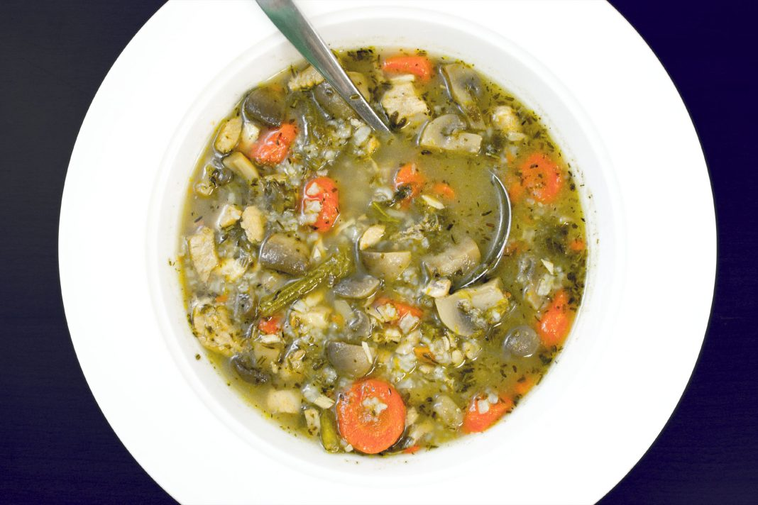 Scarborough Fair Chicken Soup Recipe from domesticsoul.com
