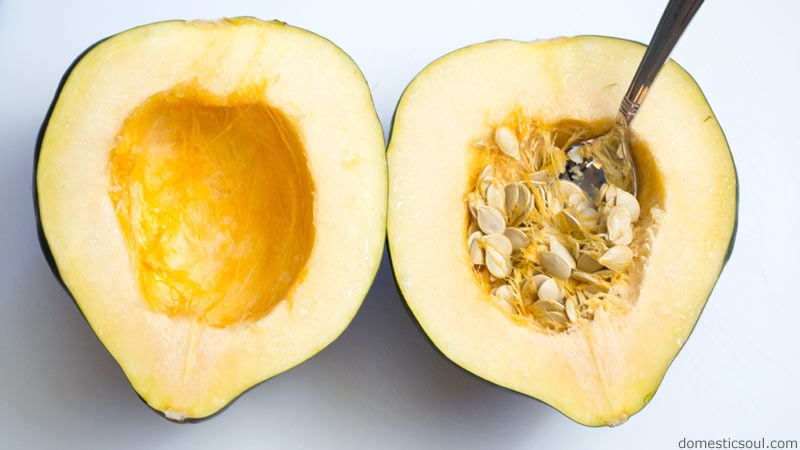 Roasted & Mashed Acorn Squash Recipe