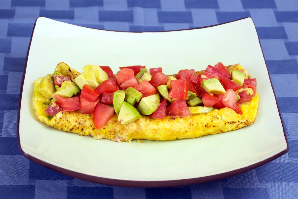 Bacon, Avocado & Tomato Omelette Recipe