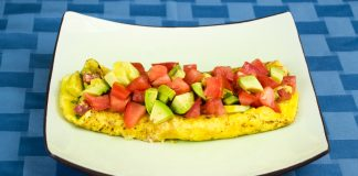Bacon, Avocado & Tomato Omelette Recipe from domesticsoul.com