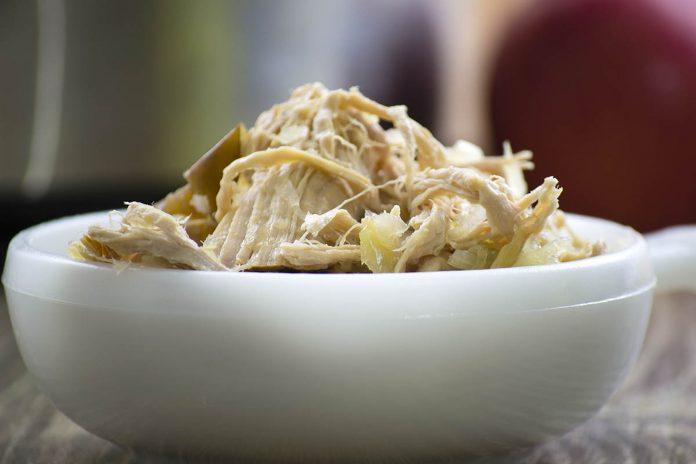 Crockpot Pork with Sauerkraut and Apples Recipe from domesticsoul.com