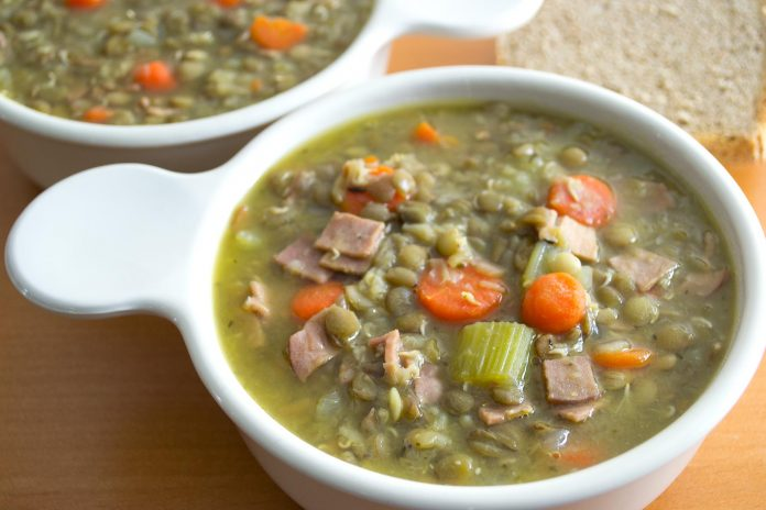 Sprouted Lentil Soup Recipe from domesticsoul.com