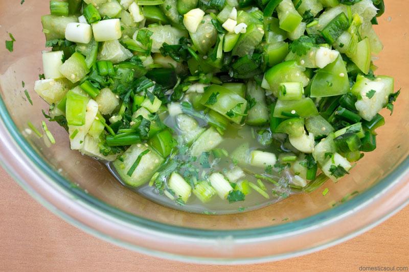 Lacto Fermented Tomatillo Salsa (Salsa Verde) Recipe from domesticsoul.com