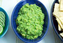 Simple Cilantro Lime Guacamole from domesticsoul.com