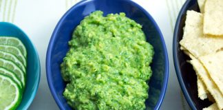 Simple Cilantro Lime Guacamole from domesticsoul.com